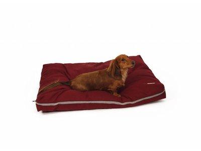 Zacht Hondenmatras in Rood, Grijs en Blauw