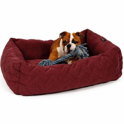 Zachte Design Hondenmand in Donker Rood