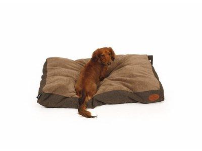 Extra zacht en stijlvol Box Hondenkussen Herringbone in 4 Kleuren