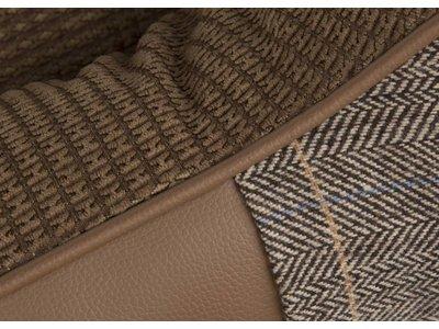 Luxe Tweed Hondenmand Windsor in Grijs en Bruin
