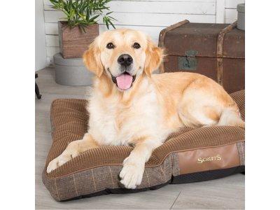 Scruffs Windsor Geruit Hondenbed in Grijs en Bruin