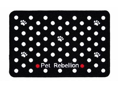 Pet Rebellion Wasbare Voermat Dotty Black
