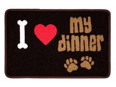 Pet Rebellion Wasbare Voerbak Mat I Love My Dinner