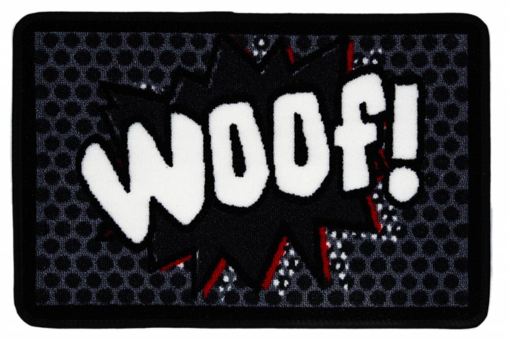 Wasbare Voerbak Mat Woof!