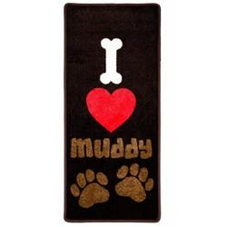 Droogloopmat I Love Muddy Paws