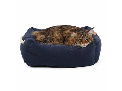 Nautical Zachte Kattenmand in Grijs en Blauw