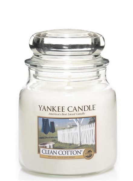 Yankee Candle Yankee Candle Clean Cotton Medium Jar