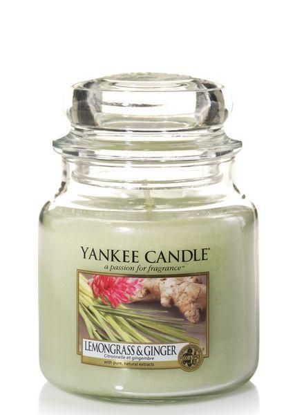 Yankee Candle Lemongrass & Ginger Medium Jar