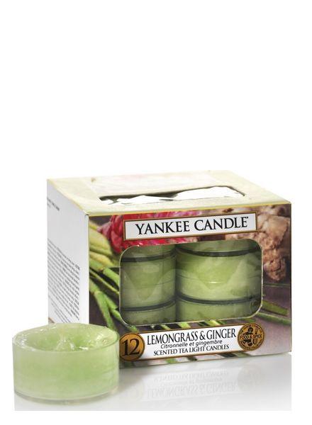 Yankee Candle Lemongrass & Ginger Theelichten