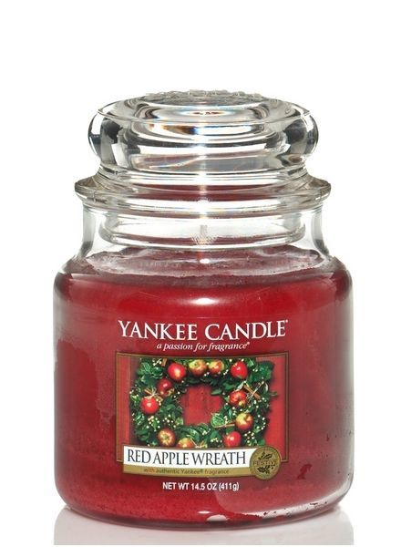 Red Apple Wreath Medium Jar
