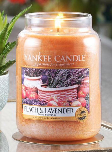 Yankee Candle Peach & Lavender Large Jar