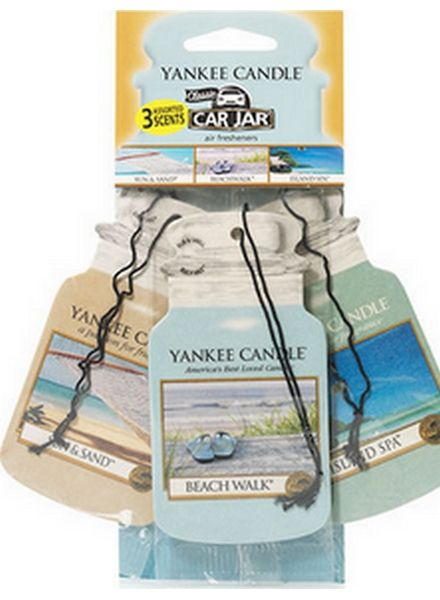 Yankee Candle Yankee Candle Car Jar Beach Vacation 3 pack