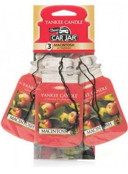 Yankee Candle Car Jar Macintosh 3 pack