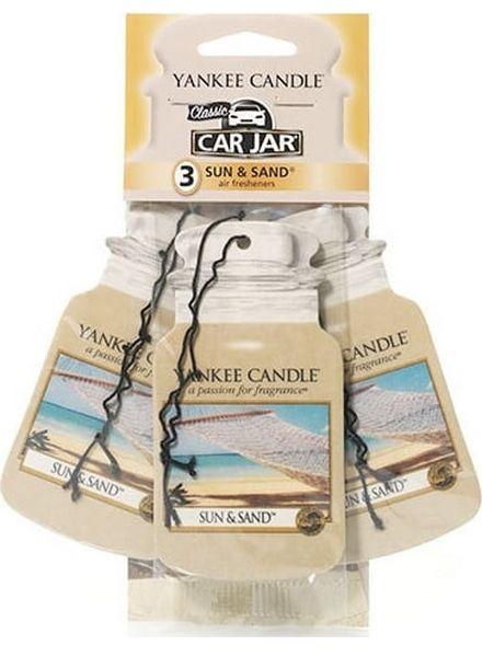 Yankee Candle Yankee Candle Car Jar Sun & Sand 3 pack