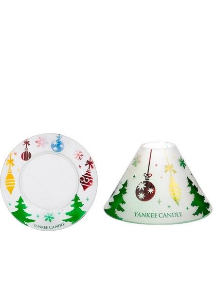 Yankee Candle Yankee Candle Deck the Halls Small Shade and Tray