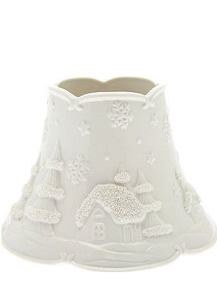 Yankee Candle White Christmas Large Shade and Tray