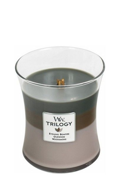 Woodwick WoodWick Cozy Cabin Trilogy Medium Candle