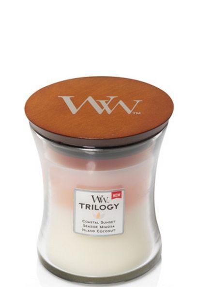 Woodwick WoodWick Island Getaway Trilogy Medium Candle