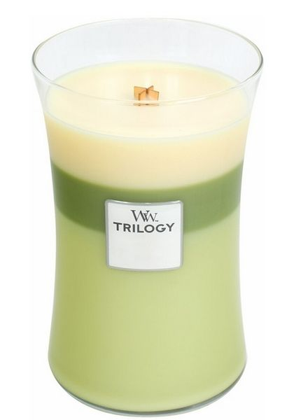 Woodwick WoodWick Garden Oasis Trilogy Large Candle