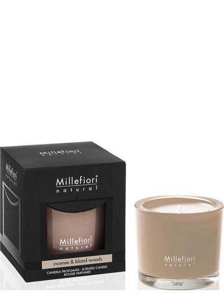 Millefiori Milano  Millefiori Milano Incense & Blond Wood Geurkaars Natural