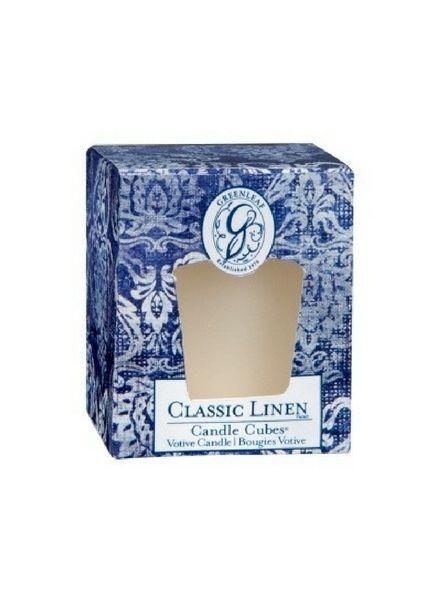 Greenleaf Greenleaf Candle Cube Classic Linen