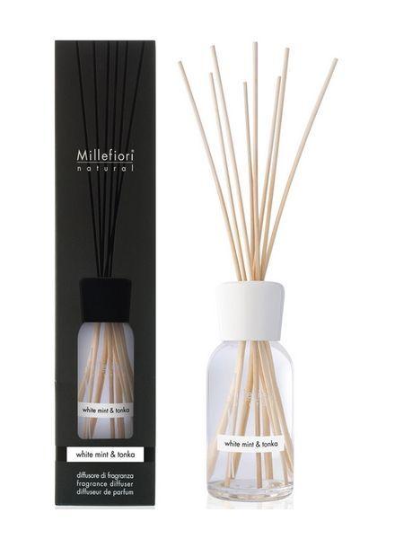 Millefiori Milano  Millefiori White Mint & Tonka Geurstokjes 100ml