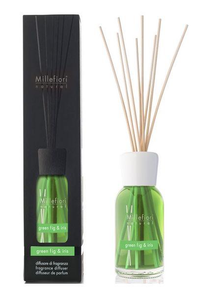 Millefiori Milano  Millefiori Milano Green Fig & Iris Geurstokjes Natural 250ml