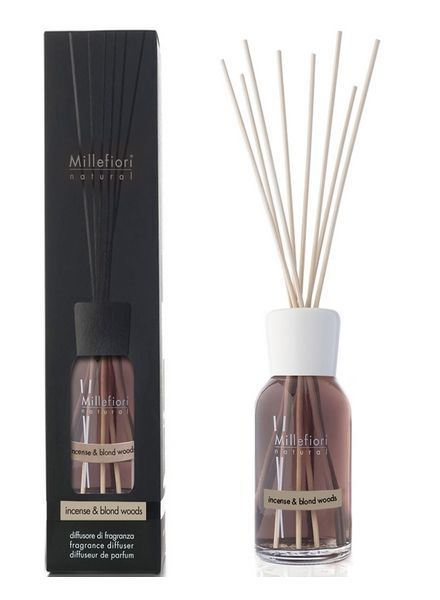 Millefiori Milano  Millefiori Incense & Blond Woods Geurstokjes 250ml