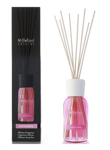 Millefiori Milano  Millefiori Milano Jasmine Ylang Geurstokjes Natural 250 ml