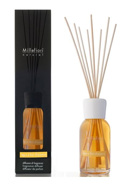Millefiori Milano  Millefiori Milano Legni E Fiori D'Arancio Geurstokjes Natural 250ml