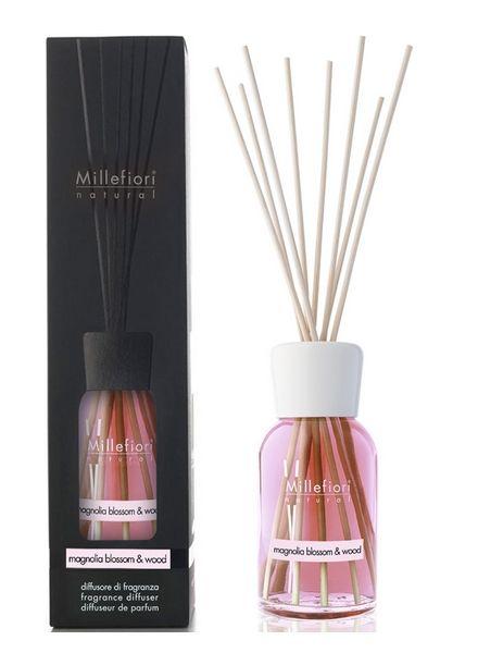 Millefiori Milano  Millefiori Milano Magnolia Blossom & Wood Geurstokjes Natural 250ml