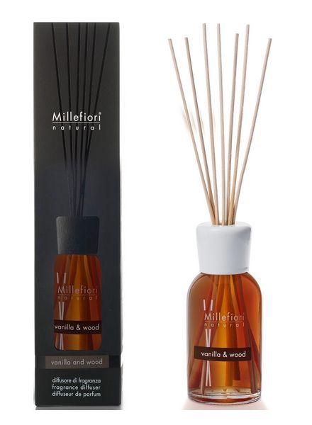 Millefiori Milano  Millefiori Milano Vanilla & Wood Geurstokjes Natural 250ml