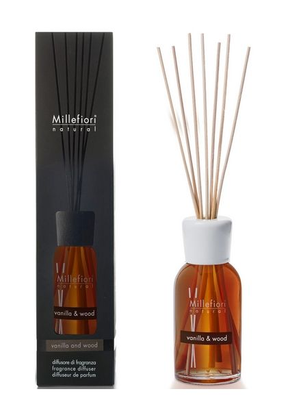 Millefiori Milano  Millefiori Milano Vanilla & Wood Geurstokjes Natural 100ml