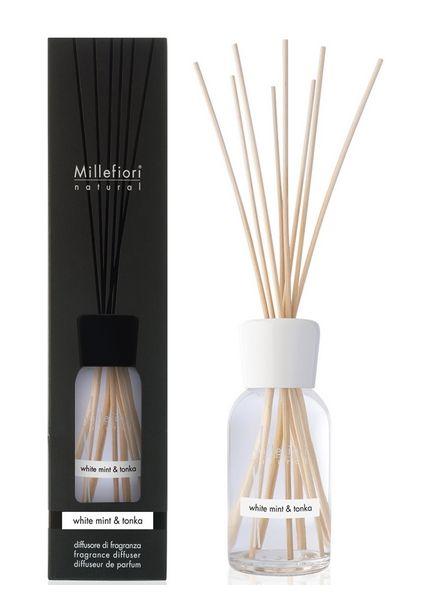 Millefiori Milano  Millefiori Milano White Mint & Tonka Geurstokjes Natural 250ml