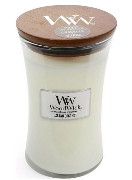 Woodwick WoodWick Large Candle Island Coconut