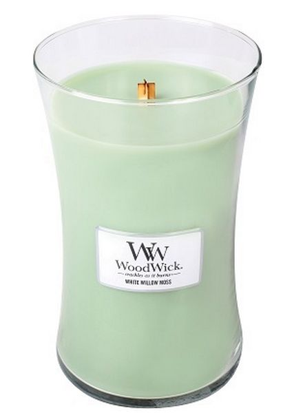 Woodwick WoodWick Large Candle White Willow Moss