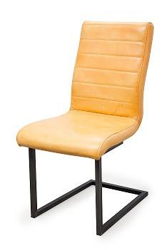 Buffel leren stoel swing zonder armleuning zitze zo for Leren eetkamerstoelen zonder armleuning