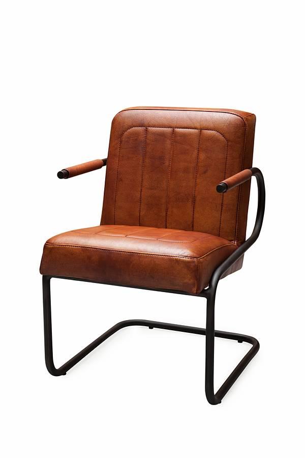 Buffel leren stoel ben badsal gratis bezorgd zitze zo for Leren stoel