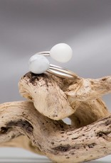 Miluh Manufaktur Ring Double Drop Pearl Sterling Silber*