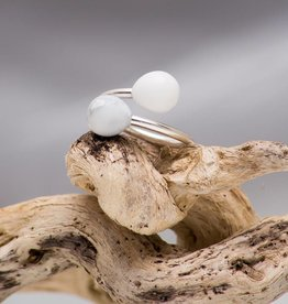 Miluh Manufaktur Ring Double Drop Pearl