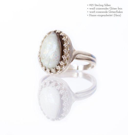 Miluh Manufaktur Muttermilchstein Krone Ring oval *