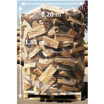 Trockenes Kaminholz als Buche/Eiche/Esche-Mix - 2 SRM (700 kg) auf Palette verpackt