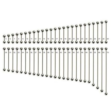 Surgical Steel Barbell Basic (Extra Long)