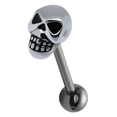 Surgical Steel Barbell - Skull