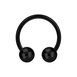 Black Surgical Steel Circular Barbell - XL