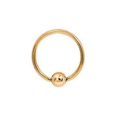 18K Gold Plated Ball Closure Ring Basic