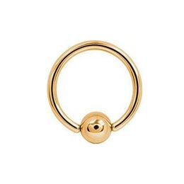 18K Gold Plated Ball Closure Ring Classic