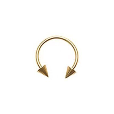 18K Gold Plated Circular Barbell Cones