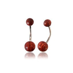 Belly Piercing - Wooden Balls