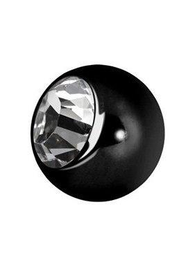 Black Surgical Steel Piercing Ball Crystal